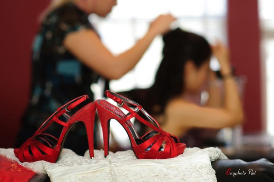 Wedding shoes photo at Fremont