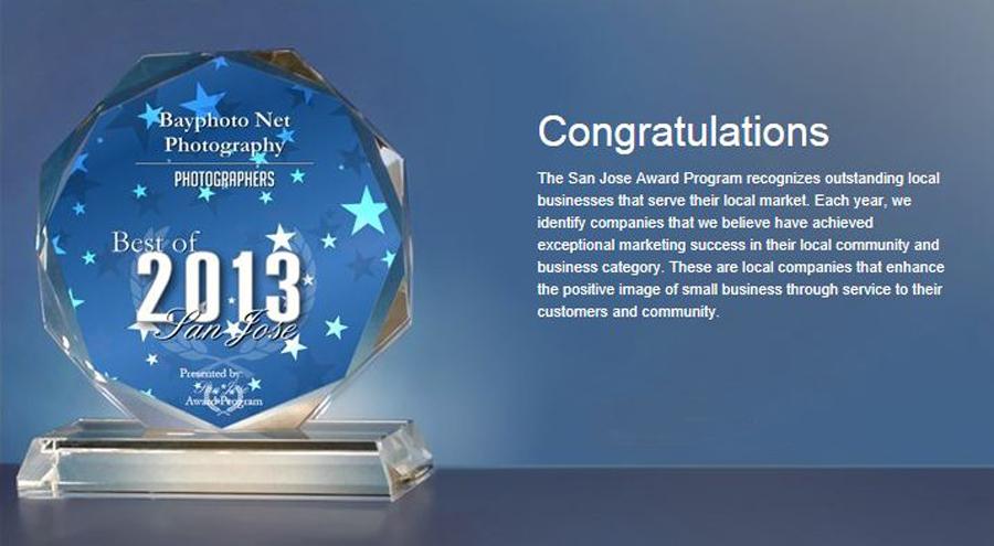 San Jose Best Wedding photographer Award 2013