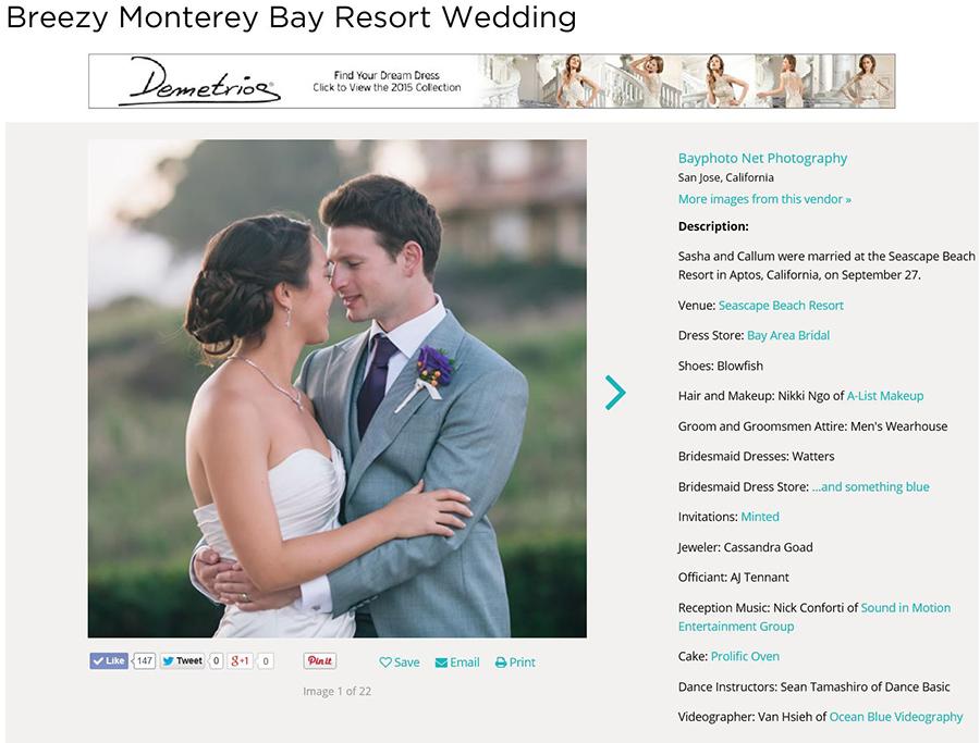 Featured wedding on weddingwire